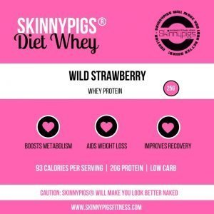 skinnypigs diet whey wild strawberry protein